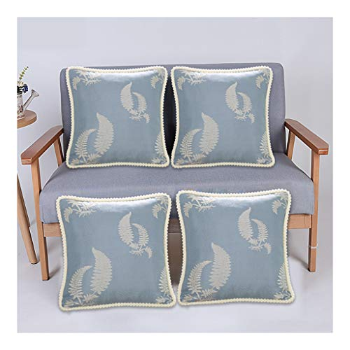 DaPeng Cushion Covers 18x18,4 Pack Grey Soft Embroidery Cushions, Cushions for Sofa Bedroom Car 45x45cm(without Core)