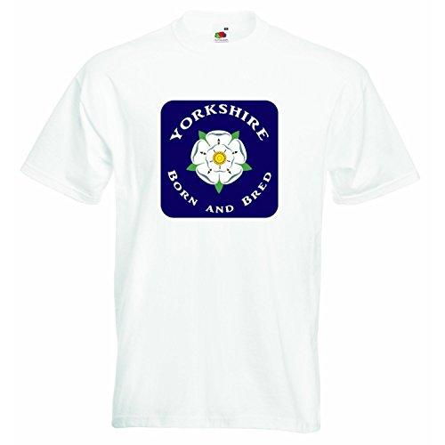 Yorkshire Gepersonaliseerde T-shirt voor jongens en meisjes, uniseks, voor jongens, meisjes, T-shirt, kleding met bedrukt Funny Quotes, wit, 4-5 jaar