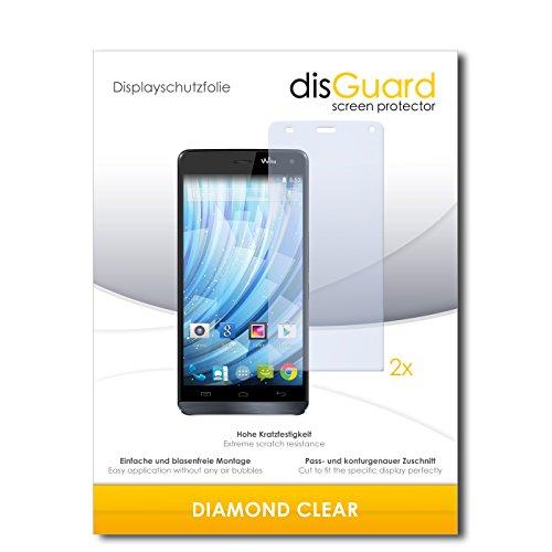disGuard 2 x Bildschirmschutzfolie Wiko Getaway Schutzfolie Folie DiamondClear unsichtbar