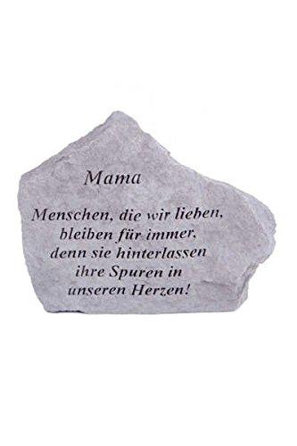 Vidroflor Gedenkstein Mama. aus Steinguss 18 x 14 cm Grabschmuck