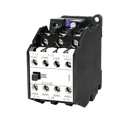 CJX1-22 AC Contactor 24V 50Hz Coil 22A 3-Phase 3-Pole 2NO + 2NC