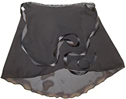 Sheer Delights Black Georgette Wrap Ballet Skirt Adult Sizes