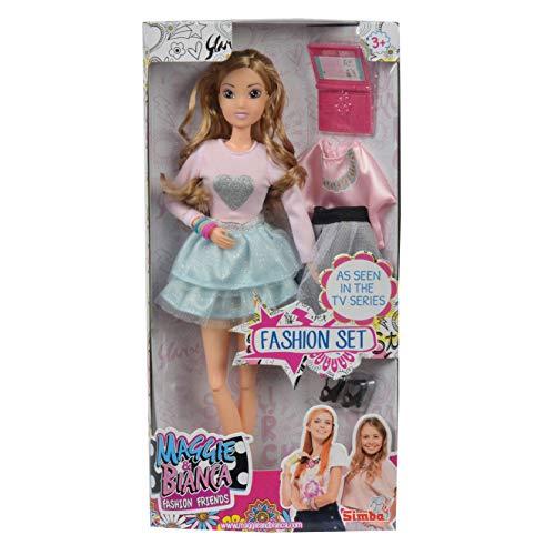 Simba Maggie & Bianca Bianca Fashion Doll con Cambio d'Abito, 109273155