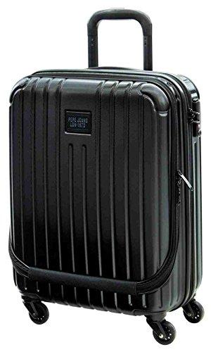 Pepe Jeans Black Label Maleta de Cabina Bolsillo Frontal, 38 litros, Color Negro