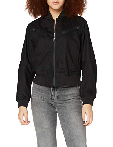 G-STAR RAW Womens Flight Jacket, Pitch Black C526-A810, S