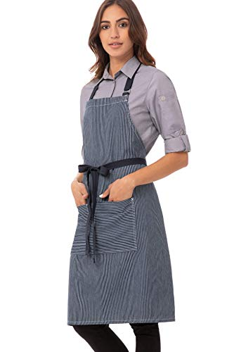 Chef Works Unisex Portland Bib Apron Indigo Blue One Size