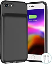 Battery Case for iPhone 6/6s/7/8/SE 2020, 6500mAh Portable Rechargeable Charger Case Compatible with iPhone 8/7/6s/6/SE 2020 (2nd Generation) (4.7 inch) External Battery Charging Case (Black)
