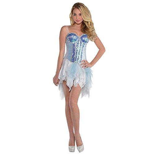 Yummy Bee - Ice Queen Corsé - Princesa Fancy Dress Corsé Disfraz Mujer - Talla M L 10 12 14