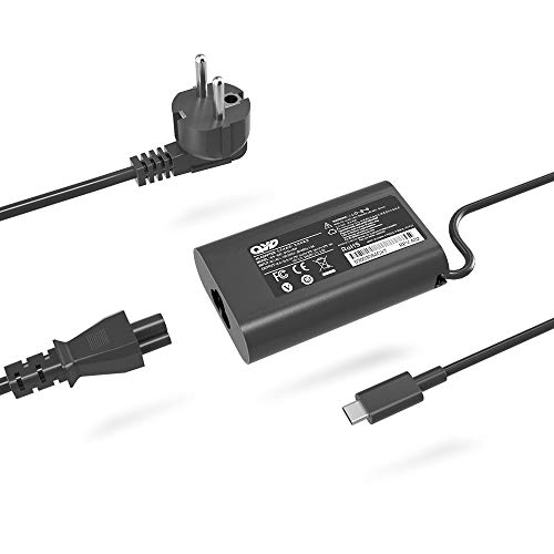 QYD 45W USB Type-C PD Netzteil Notebook Ladegerät für Dell XPS 13 9365 9370 9380,Latitude 7275 7370 5175 5285 5290-2in1 7390-2in1 P82G001 LA45NM150 HA45NM150 0HDCY5 Laptop ladekabel Power Cord