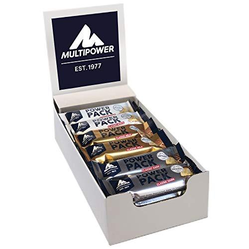 Multipower Power Pack Mix Box Protein Riegel, Eiweißriegel mit 27% Protein, klassischer Power Riegel als gesunder Sport-Snack, in drei leckeren Geschmacksrichtungen, 24 x 35 g, 840 g