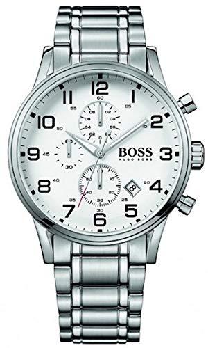 Boss Armband aus Edelstahl, grau IP beschichtet