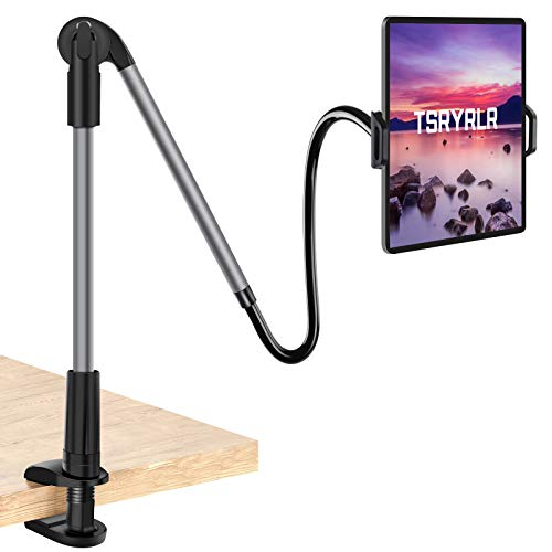 Tsryrlr Supporto Tablet, Collo Oca Supporto Regolabile - Supporto per Tablet,Samsung Tab,iPad,iPhone,Nintendo Switch,Huawei Mediapad,Kindle, Telefono,Altri Tablets 4,7-10,5'