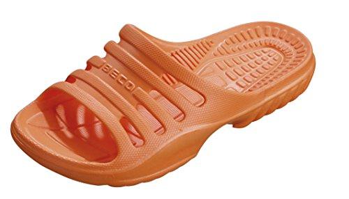 BECO Kinder Badepantolette / Badeschuh / Badelatschen orange 33