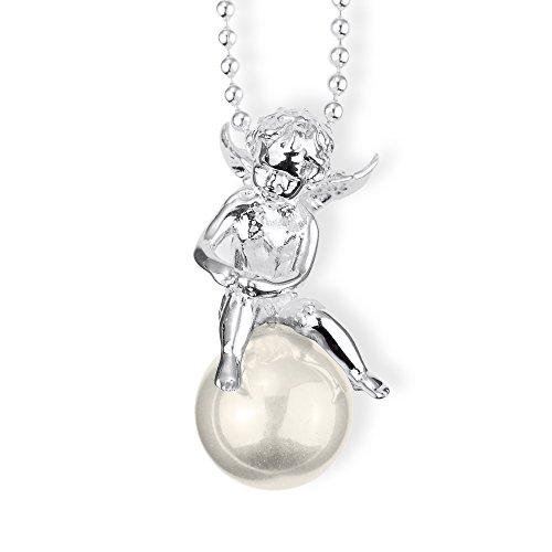 Heartbreaker Engel- Anhänger Pearl of Angels Engel auf Perle 925 Silber weiß