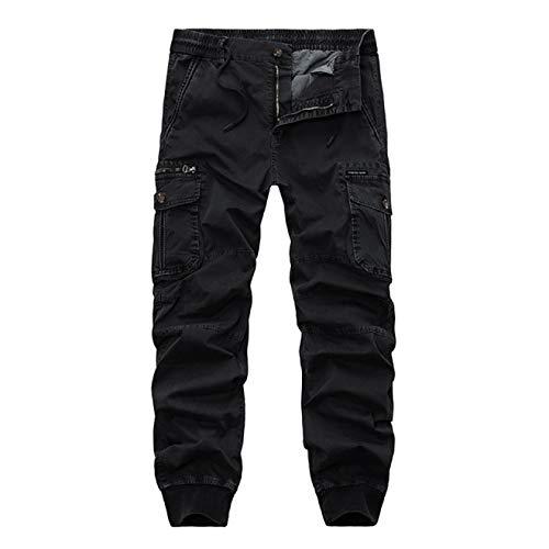 Desconocido Pantalones tácticos para Hombre, Estilo Militar, elásticos, Ajustados, con Bolsillo con Cremallera, para Trabajo al Aire Libre, Caza, Senderismo 38