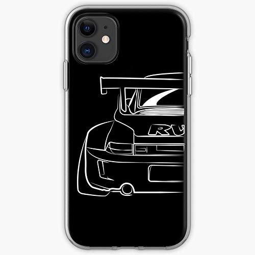 Twinyarh Compatibile con iPhone 6 6s 7 Plus 8 Plus X XS XR 11 PRO Max SE 12 PRO Max Custodie i RWB Porsche Pure Clear Custodie per Telefoni Cover