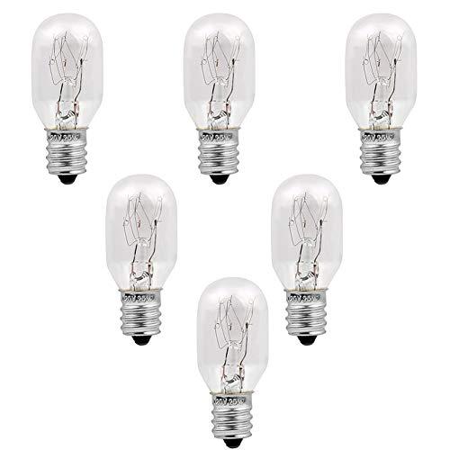 Himalayan Salt Lamp Bulbs 6 Pack E12 Socket Incandescent Bulbs, Unilamp Original Salt Lamp Replacement Long Lasting Light Bulbs (25 Watt-6 Pack)