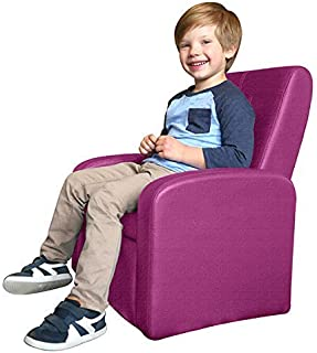 STASH Comfy Folding Kids Toddler Plush Sofa Lounge Chair with Storage Chest Ottoman cute mini upholstered armchair for little boy girl children play-room toy modern home sitting baby furniture,Pink