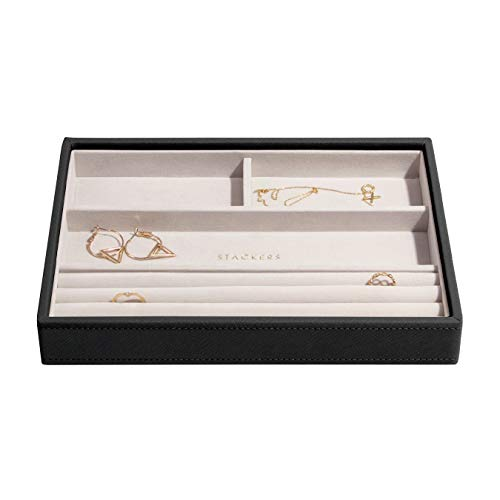 Stackers Black Classic Medium Jewellery Box Ring/Bracelets Layer