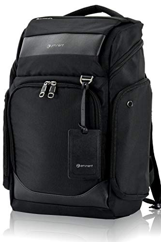 Eminent Laptop Backpack Lyon 18 Inch 30L Durable Big Pack Dayback with Anti-theft Back Pocket for Business, Leisure, Holidays, Outdoor, Rucksacks for Mens, Womens, Students Black