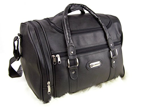 Wizzair cabin bag hand luggage fits in 42x32x25cm Massive 30 litre capacity (Black (Faux Leather))