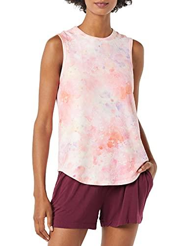 PJ Salvage Women's Loungewear Melting Crayons Tank, Coral, XS