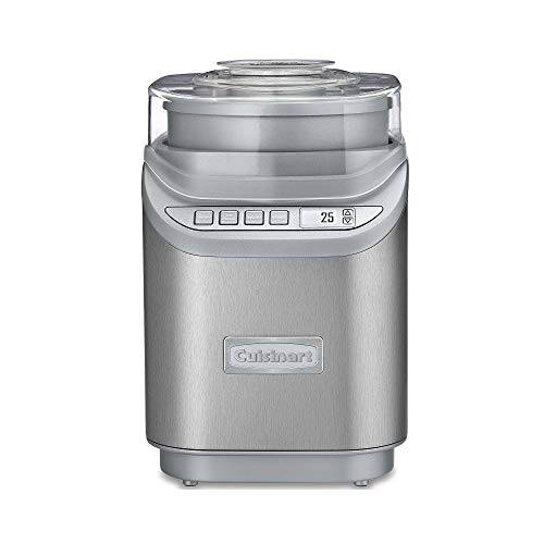 Cuisinart ICE70 Electronic Ice Cream Maker Brushed Chrome Ice Cream Maker with Countdown Timer With Countdown Timer