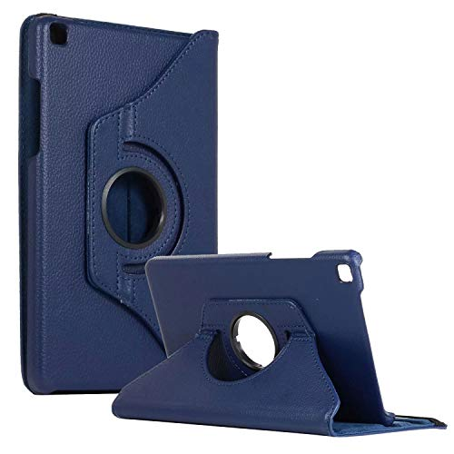 SM-T290 Rotating Case SM-T295 Cover, Galaxy Tab A 8.0 2019 Case, Coopts Slim Anti-Shock Shell 360 Degree Rotating Swivel Typing & Viewing Stand Cover for Samsung Galaxy Tab A8 T290 T295 2019, Darkblue