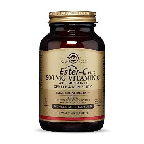Solgar® Ester-C® Plus Vitamina C 500 mg para el mantenimiento del sistema inmunitario y formación de colágeno- 100 Cápsulas vegetales