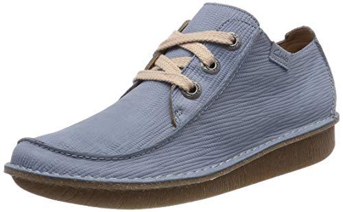 Clarks Funny Dream, Zapatos de Cordones Derby para Mujer, Azul (Blue Grey), 37