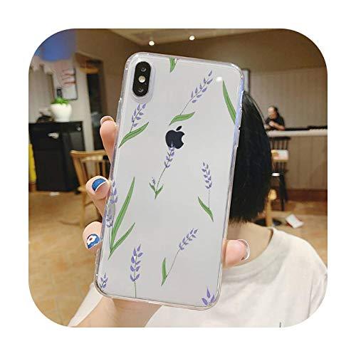 Diseño de moda flor patrón teléfono caso transparente suave para iphone 5 5s 5c se 6 6s 7 8 11 12 plus mini x xs xr pro max-a1-iphone 12or12 pro