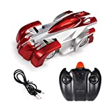 Remote Control Car Toy Climbs Walls & Ceilings, RC Radical Racers Wall Climbing Car High Speed Racing Vehicle 360° Rotating Stunt Racing, USB Charging with Lights for Kids Boys Girls,B