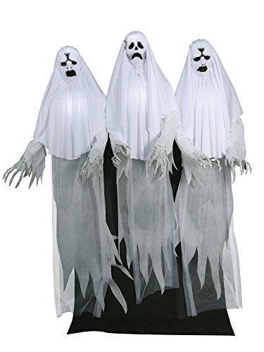 "72"" Halloween Animated Haunting Ghost Trio"