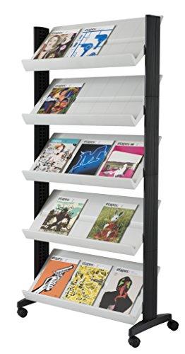PaperFlow sola cara funda para pantalla de literatura, 5estantes, 33.67X 15.17X 66cm, plata (255N.35)
