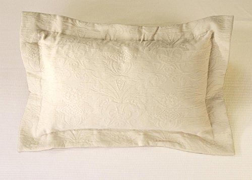 Kissen Wohnen & Accessoires Joli Coussin Lune dans de Traitement de matelassé Beige Clair 50 x 30 cm avec Le Classique et Intemporel Ornament Design