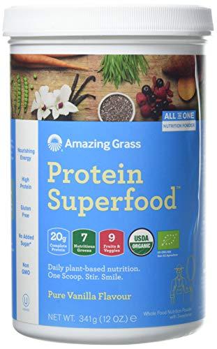 Amazing Grass Protein SuperFood Pure Vanilla Powder, 341 g