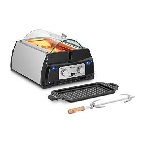 bredeco BCIG 1800A Tischgrill Infrarot Infrarotgrill Elektrogrill ohne Rauch Indoorgrill 1.780 W 240° C