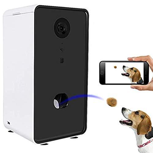 Cane Camera Treat Dispenser, Fotocamere Pet per Cani E Gatti, App di Controllo Wi-Fi Video Full HD con Audio A 2 Vie 165 ° Full-Camera Vista di Visione Notturna (Compatibile con Alexa)