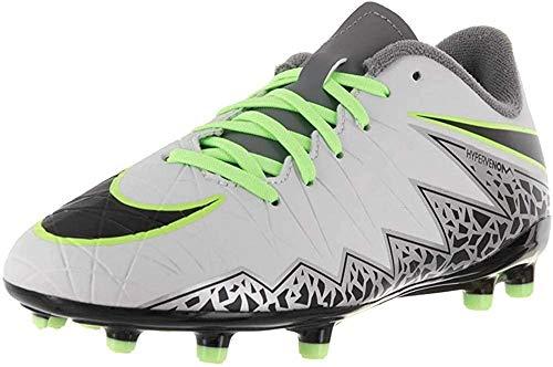 Nike Jr Hypervenom Phelon II Fg, Scarpe da Calcio Unisex-Kids, Bianco/Grigio, EU 38 (US 5.5Y)