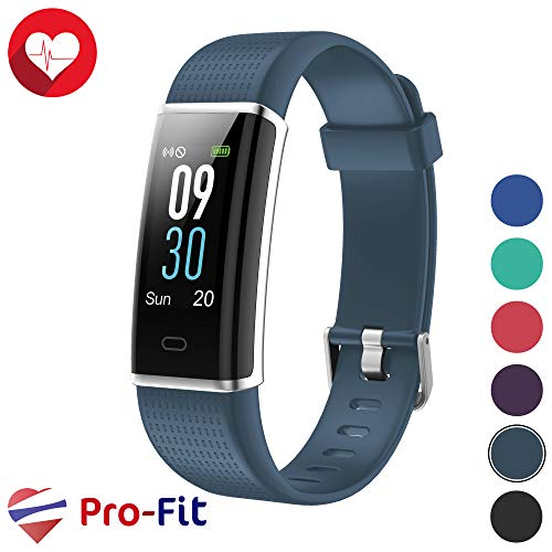 Pro-Fit Fitness Tracker, Activity Tracker with Color Screen, Heart Rate Monitor, 14 Sports Modes & Sleep Monitor, IP67 Waterproof Pedometer Watch, VeryFitPro Smart Wristband, Android & iOS (Gray)