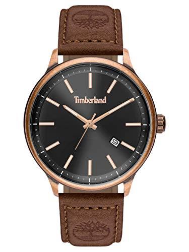 Timberland Herren Analog Quarz Uhr mit Leder Armband TBL15638JSQBZ.61