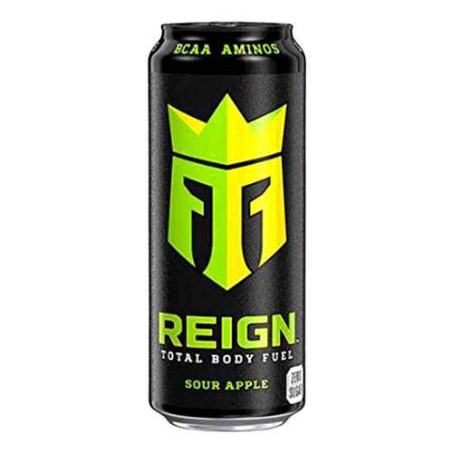 Reign Monster's Total Body Fuel BCAA Energy Drink Sour Apple , 500ml x 12