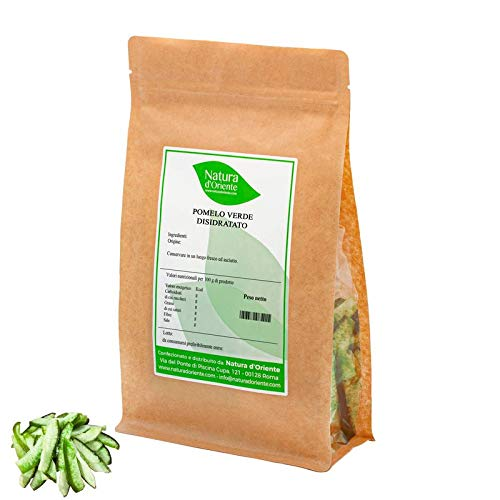 NATURA D'ORIENTE - Pomelo verde disidratato - 1 Kg - Frutta Essiccata - Prima Qualità
