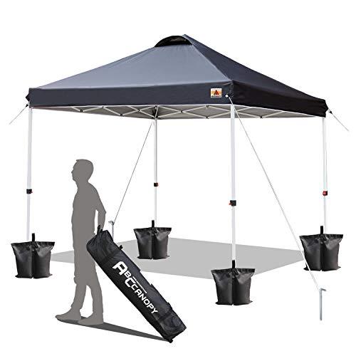 ABCCANOPY 2x2M Pavillon wasserdicht Pop-Up Gartenpavillon Festival Sonnenschutz,schwarz