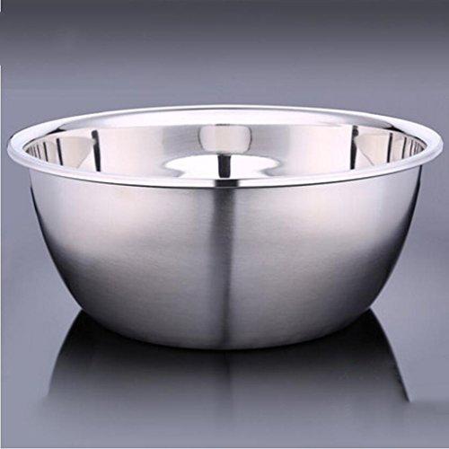 Liuyu Kitchen Home Bassin en acier inoxydable 304 Plus épais Deepen Pots de gros assaisonnements Round Soup Basin Mixing Bowl (taille : 32cm)
