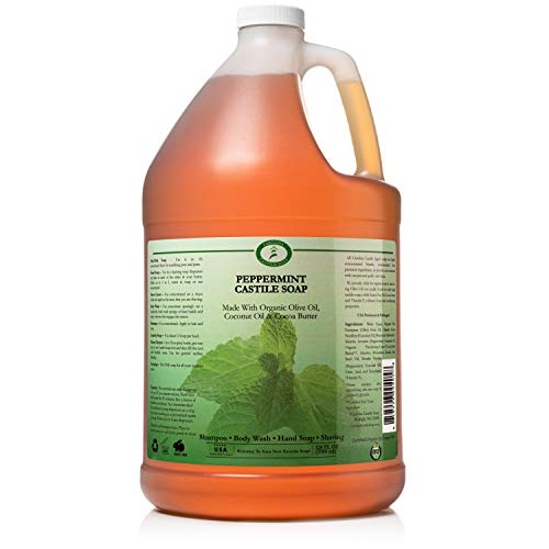 Organic Peppermint Castile Soap Liquid - 1 Gallon - Carolina...