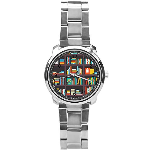 Soloatman Boekenplank Horloge Mode Horloge Staal Quartz Jongens Mannen Horloge