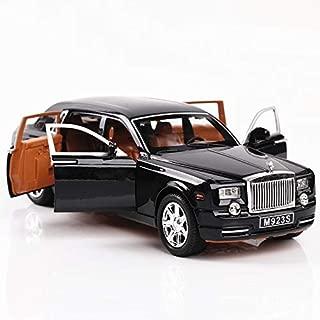 1/24 Car Model Rolls-Royce Phantom Diecast Alloy with Lights .Black