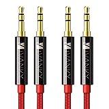 Câble Jack [1.2m/Lot de 2] iVANKY - Garantie à Vie/Qualité Sonore HiFi -Câble...