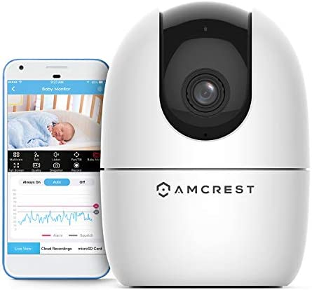 Amcrest 1080P FHD Baby Monitor Pet Camera WiFi Camera 2 4G Wireless Indoor Home Security Camera product image